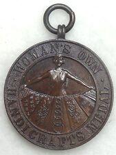 Art Deco Design Woman's Own Handcrafts Bronze Medallion with Excellent Detail