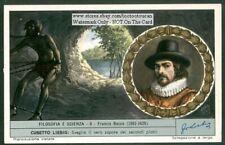 Francis Bacon English Philosopher Scientist 50 Y/O Trade Ad Card