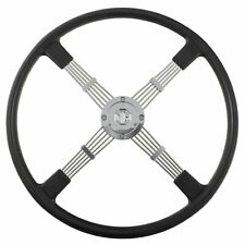 """MG TA TB TC Steering wheel & boss kit 17""""- 4 spoke Black 1936 - 1949 NEW 454-240"""