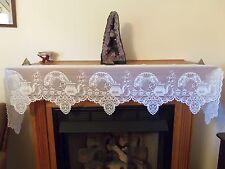 New Ivory lace Tea Pot design Mantel Scarf