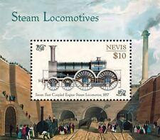 Nevis- Trains, Steam Locomotives Collectors Souvenir Sheet Stamp