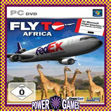 FLY TO AFRICA (FOR MICROSOFT FLIGHT SIMULATOR X) (PC) Brand New