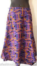 African Kente Fabric Cloth wrap around Skirt Maxi Vintage 70s Free size Print #9