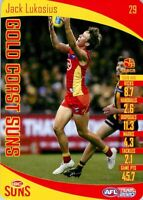 ✺New✺ 2020 GOLD COAST SUNS AFL Card JACK LUKOSIUS Teamcoach