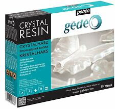 Pebeo Gedeo Crystal Transparent Resin 750ml Kit Set - Moulding, Jewellery Making