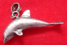Sterling Silver Charm 3-D 1/2 Dolphin or Porpoise