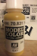 MODEL HOBBY PAINT 17ml BOTTLE  VAL831 	 AV Vallejo Model Color - Tan Glaze