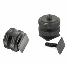 "Pro 1/4"" mount adapter f tripod screw to flash hot shoe - UK Seller"