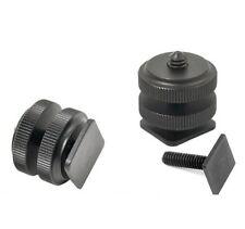 "Pro 1/4"" mount adapter f tripod screw to flash hot shoe - UK Seller"