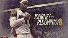 "19 LeBron James Miami Heat 2012 NBA Champion MVP 25""x14"" Poster"