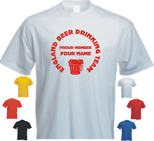 PROUD MEMBER ENGLAND BEER...YOUR NAME new tshirt