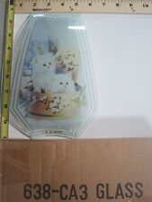 FREE US SHIP OK Touch Lamp Replacement Glass Panel Kitty Cat Kittens 638-CA3