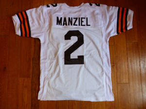 Johnny Manziel Browns Custom Sewn Jersey Size XL