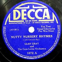 Glen Gray Casa Loma Orch.:Nutty Nursery Rhymes / Memories Of You: Decca 1938