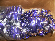 """New Purple & Silver Foil Tinsel Garland 8 Ft x 3"""" Wide Christmas Made In Usa New"""