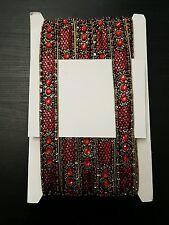 Red Gold Bead Jewel Sequin Indian wedding cake dance costume ribbon rhinestone
