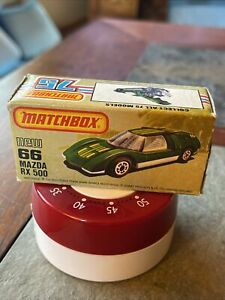 box only MATCHBOX Superfast 1971 MAZDA RX 500 No. # 66 box only