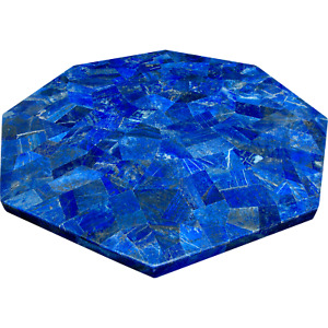 21 Inch Octagon Lapis Lazuli Gemstones Coffee Table Top Marble Center Table Top