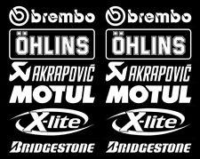 Motorsport Sponsoren Aufkleber Racing Set Brembo für Motorrad Auto