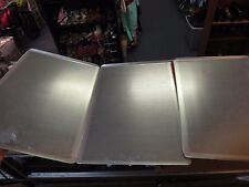 3 lot Chicago Metallic 44850 vented Baking Sheet 18x26 commercial professional