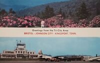 Tri-City Area Bristol Johnson City Kingsport TN Rhododendron Airport VA Postcard