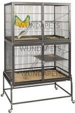 EXPLORER LARGE DOUBLE HEIGHT 2 STOREY RAT CHINCHILLA CAGE ON CASTOR Y2