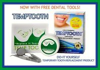 Temptooth Temp Tooth Replacement Kit Easy DIY Temporary Tooth Free Dental Tools