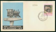 Mayfairstamps Colombia 1974 Train First Day Cover wwo1505