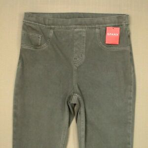Spanx Jean-ish Ankle Leggings Women's Size Small Earthy Taupe Gray