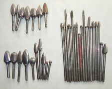 Lot of 35 Tungsten Steel Cutter Rotary Bits