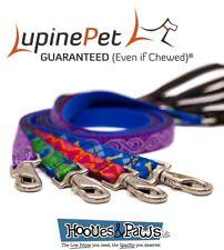 "Dog Leash Lupine Pet Lifetime 6 Foot Lead 3/4"" or 1"" Puppy Original Designs"
