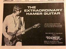 The Pretenders, James Honeyman Scott, Hamer Guitars, Vintage Promotional Ad