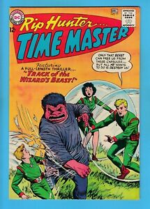 RIP HUNTER TIME MASTER # 17 FN (6.0) SOLID & GLOSSY UNSTAMPED US CENTS DC - 1963