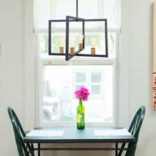 Industrial Metal Frame Island Light 4-Light Chandelier Pendant Light Fixtures