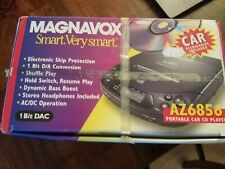 Brand New Magnavox Az6856 Portable Cd Player With Car + Ac + Cassette Adapter