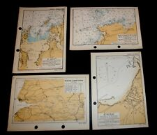 4 WW2 PLANS/MAPS of D-DAY INVASION COASTLINE of FRANCE, Allied Forces 1943