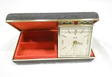 BRADLEY TRAVEL ALARM AND JEWELRY BOX, MADE IN JAPAN