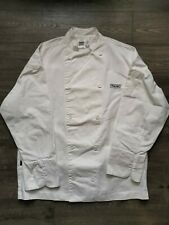 Chef Revival Jacket White Xl Long Sleeve Thick Cotton Viking Logo Made in Usa