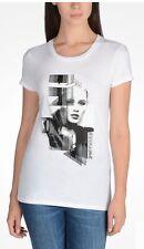 ARMANI EXCHANGE Women Graphic White Punk Girl Tee T-shirt Size XS NEW