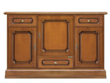 Dining room sideboard buffet in wood 3 doors 3 drawers, living room cabinet