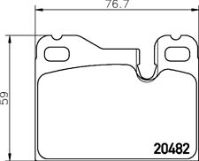 Mintex Front Rear Brake Pad Set MDB1133  - BRAND NEW - 5 YEAR WARRANTY