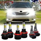 6X 6000K Led Headlight Hi And Low And Fog Light Bulb Combo For Toyota Sienna 2011 2020