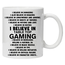 D&D  Role Playing Inspired Coffee Tea Mug - Dungeons and Dragons Tabletop Gaming