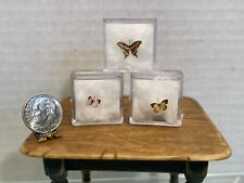 Vintage Artisan Tiny Butterfly Collection Set of 3 Dollhouse Miniature 1:12