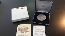 Pistrucci's Waterloo .925 fine Sterling Medal by John Pinches #3112 of 5000