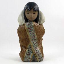 """LLADRO #2156 """"ARCTIC WINTER"""" Eskimo Girl Blanket GRES Children Around The World"""