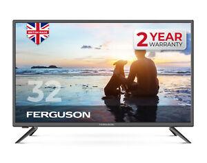 "FERGUSON 32"" INCH LED TV FREEVIEW HD, 3 x HDMI, USB VGA & SCART USB RECORD"