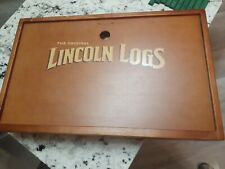 Original Lincoln Logs The Collector'S Edition Building Set Wooden Box 145pcs