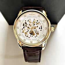 Men`s Waterproof Genuine Leather Allow Out Automatic Mechanical Wrist Watches