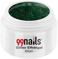 UV GEL Glitter Effektgel - Grün 5ml / Color Gel Glitzer Nails Made in Germany!